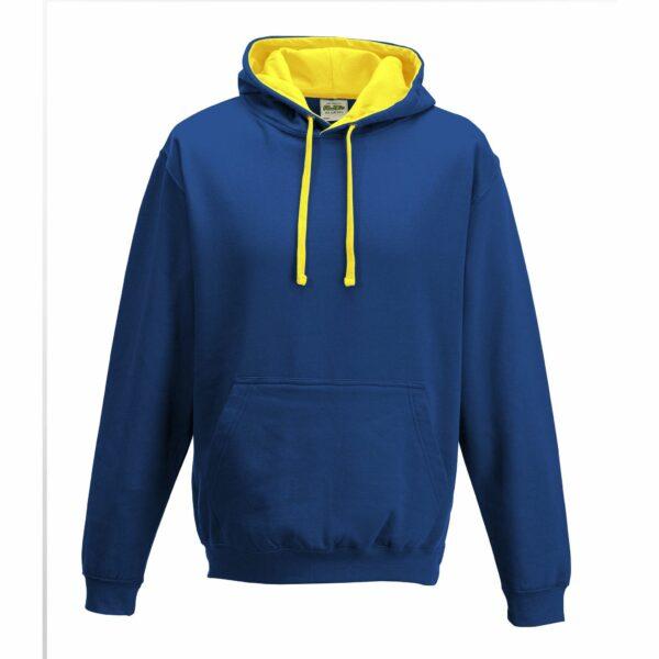 sweat-capuche-varsity-bleu-royal-jaune