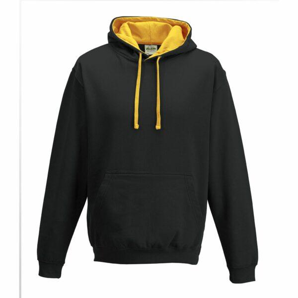 sweat-capuche-varsity-noir-jaune