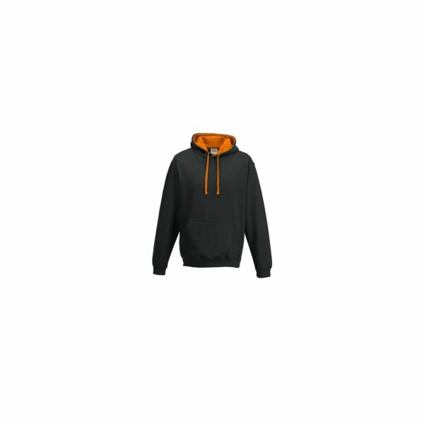 sweat-capuche-varsity-noir-orange