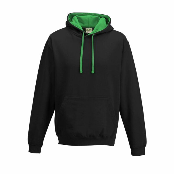 sweat-capuche-varsity-noir-vert