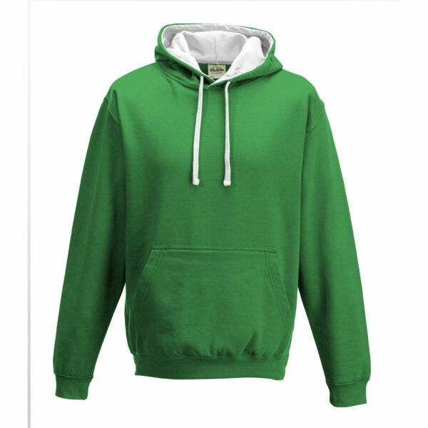 sweat-capuche-varsity-vert-blanc