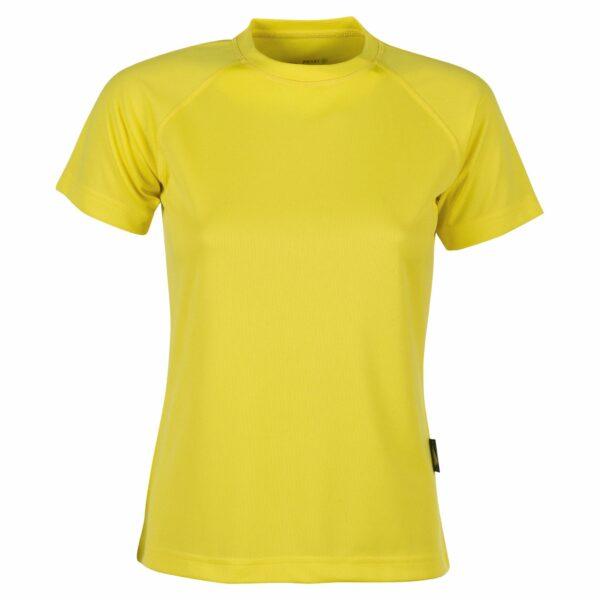 firstee-women-tee-shirt-respirant-femme jaune