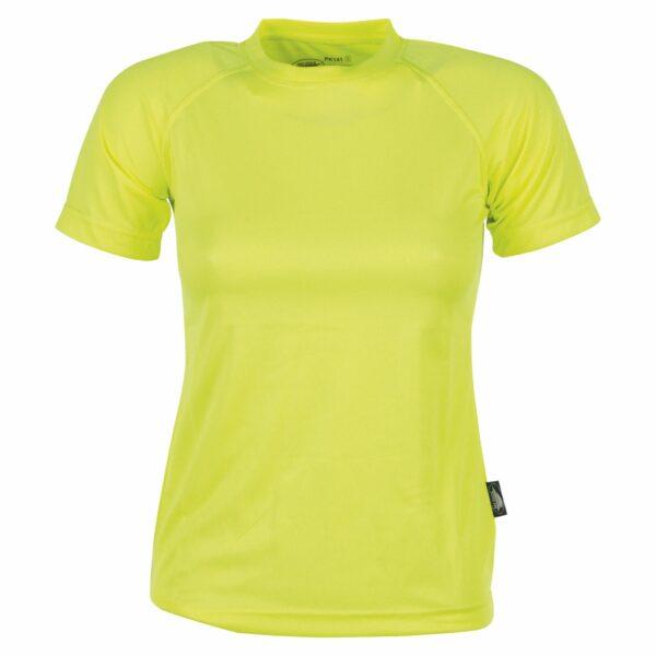 firstee-women-tee-shirt-respirant-femme jaune fluo