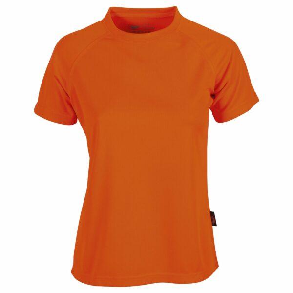 firstee-women-tee-shirt-respirant-femme orange