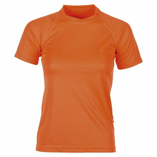 firstee-women-tee-shirt-respirant-femme orange fluo