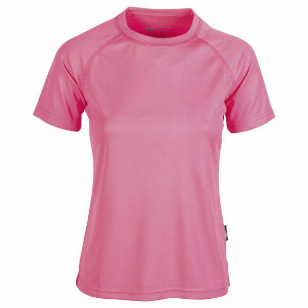 firstee-women-tee-shirt-respirant-femme rose fluo