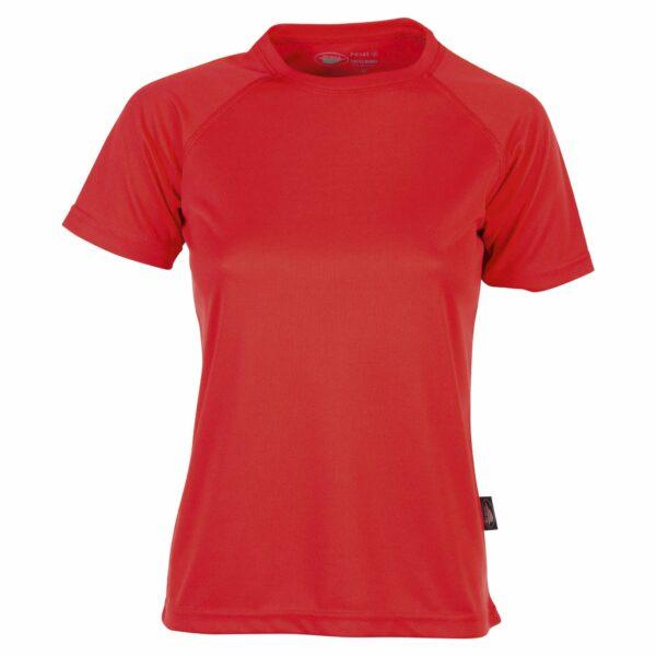 firstee-women-tee-shirt-respirant-femme rouge vif