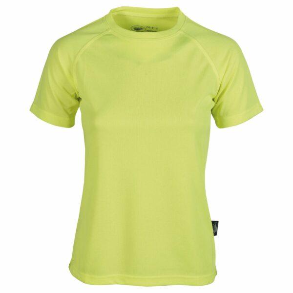 firstee-women-tee-shirt-respirant-femme vert fluo