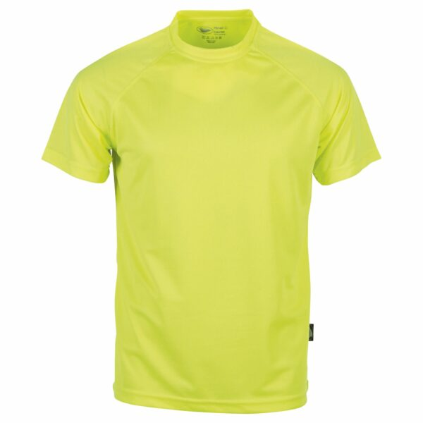 Tee shirt sport gris jaune fluo
